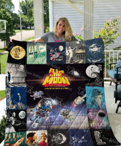 Fly Me To The Moon Quilt Blanket