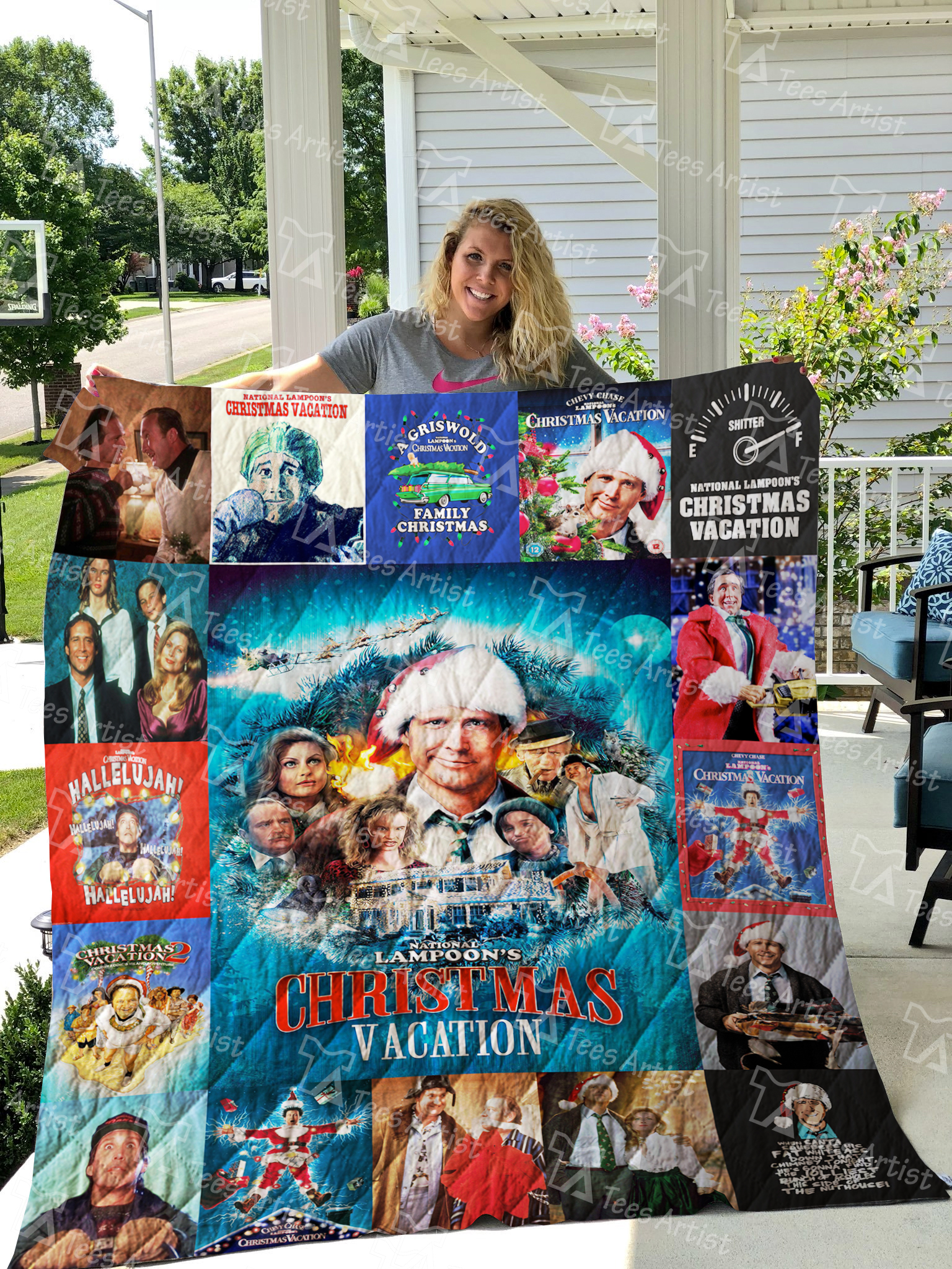 Christmas Vacation Hallelujah.National Lampoon S Christmas Vacation Quilt Blanket 0657