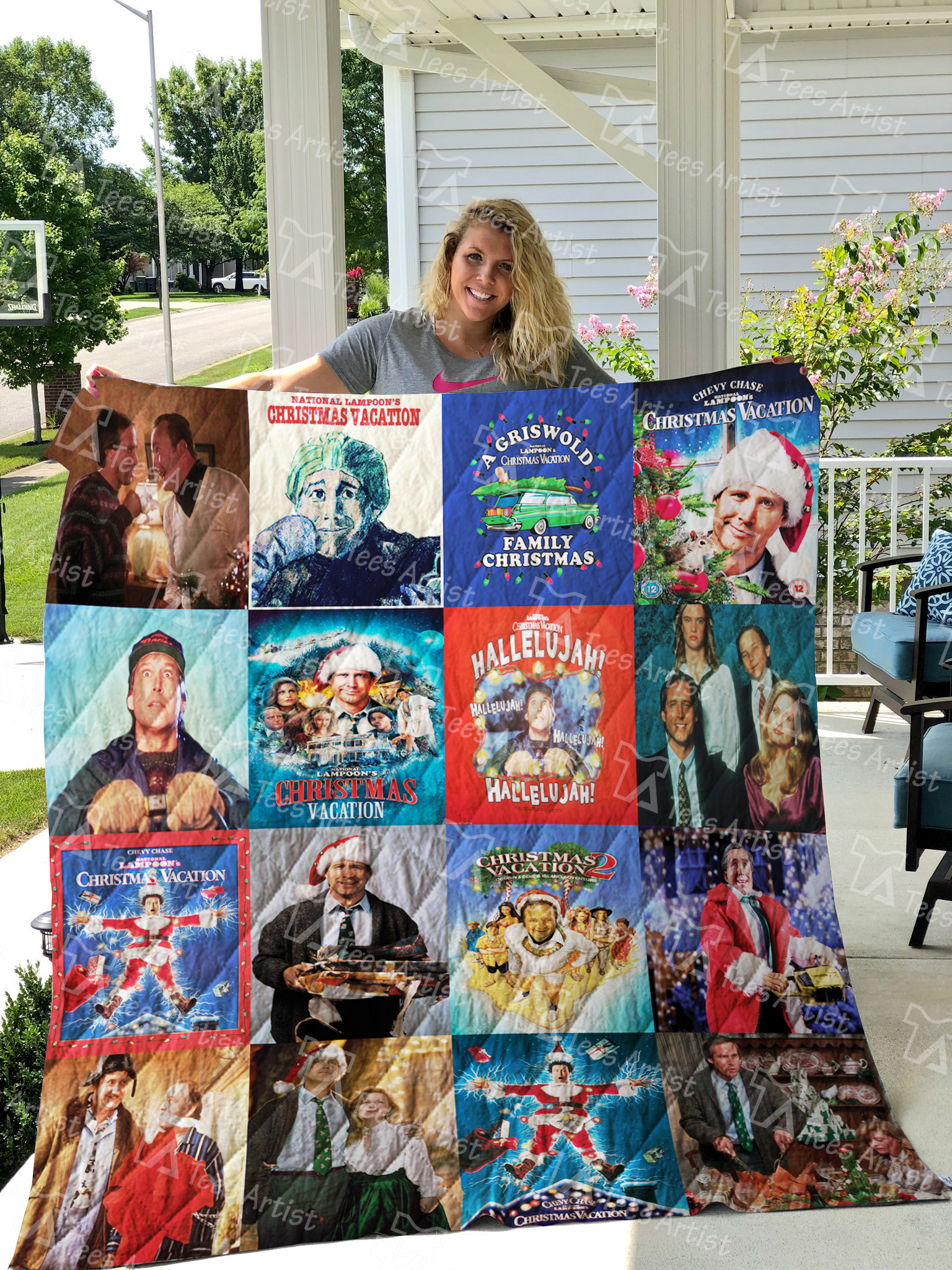 Christmas Vacation Hallelujah.National Lampoon S Christmas Vacation Quilt Blanket 0658