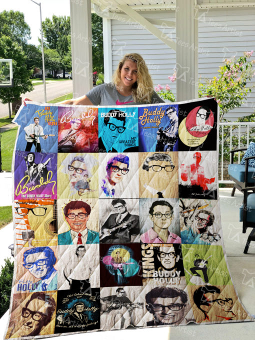 Buddy Holly Quilt Blanket 0758