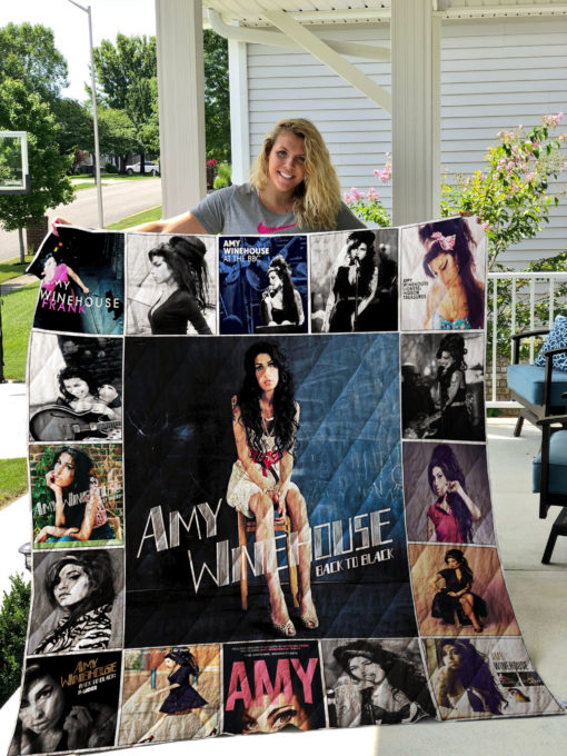 Amy Winehouse Quilt Blanket 01131