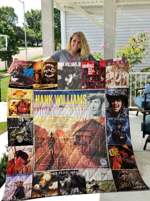 Hank Williams Jr Quilt Blanket 0872
