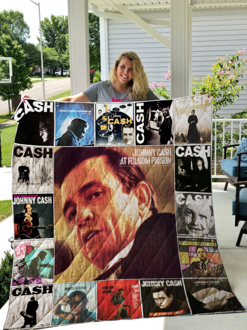 Johnny Cash Quilt Blanket 0882