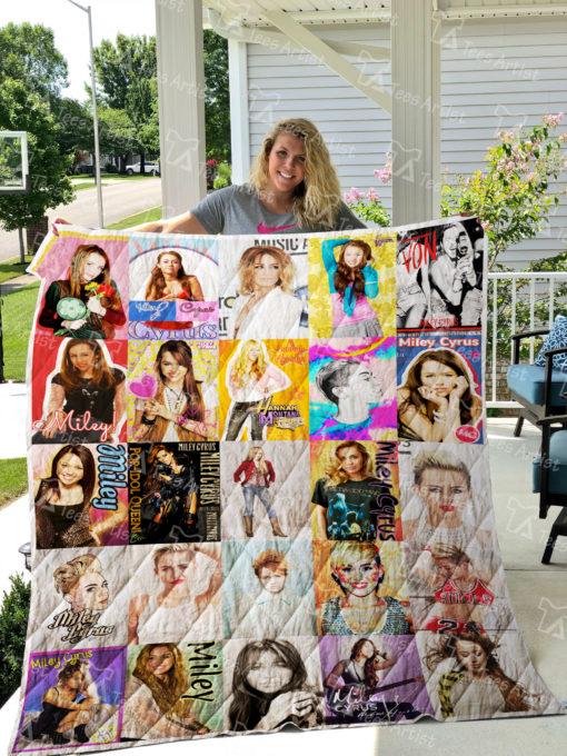Miley Cyrus Quilt Blanket 01150