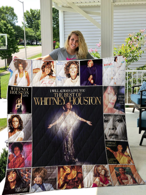 Whitney Houston Quilt Blanket 01098