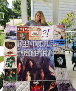 Deep Purple Quilt Blanket 01454