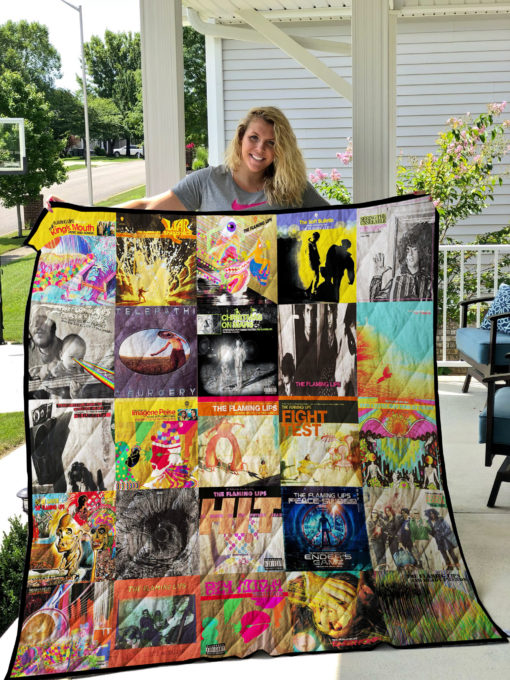 Flaming Lips Quilt Blanket 01807