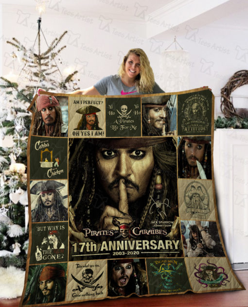 ‎Pirates of the Caribbean Quilt Blanket 02022