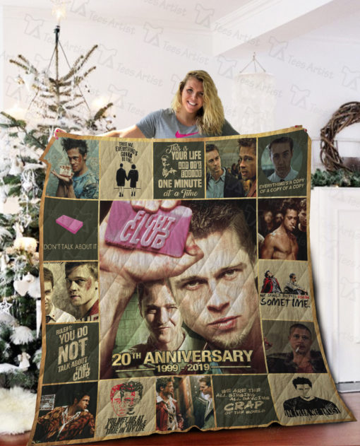 Fight Club 20th Anniversary Quilt Blanket 02013