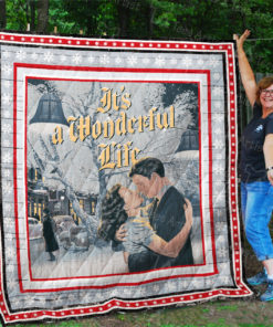 It's A Wonderful Life Quilt Blanket 01972