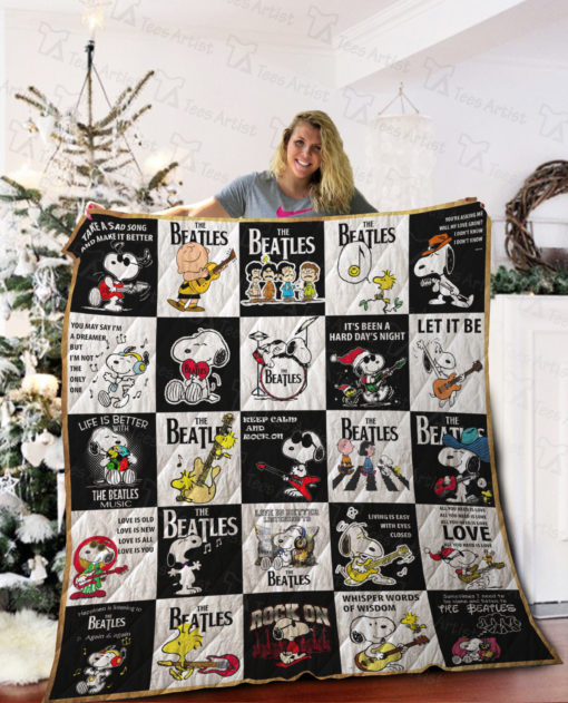 The Beatles Quilt Blanket 01998