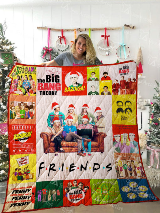 The Big Bang Theory and Friends TV show Quilt Blanket 01992
