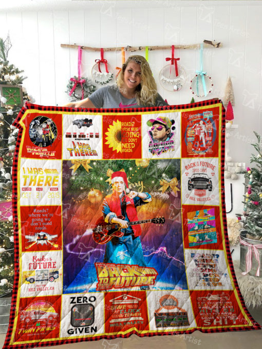 Back To The Future Quilt Blanket 02176