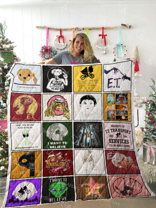 E.T. the Extra Terrestrial Quilt Blanket 02167