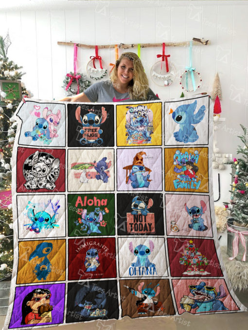 Lilo and Stitch Quilt Blanket 02157