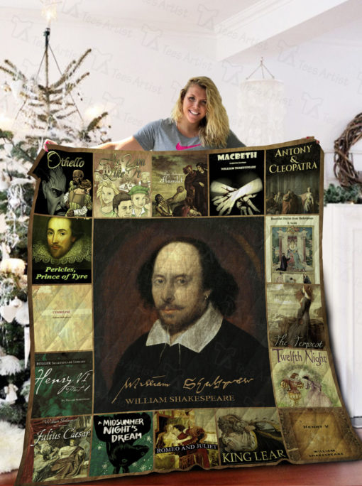 William Shakespeare Quilt Blanket 02149