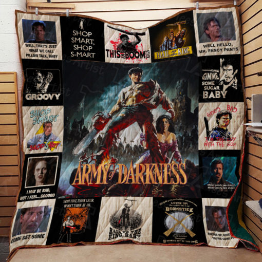 Army of Darkness Quilt Blanket 01800