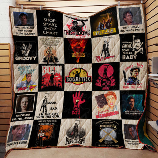 Army of Darkness Quilt Blanket 01801