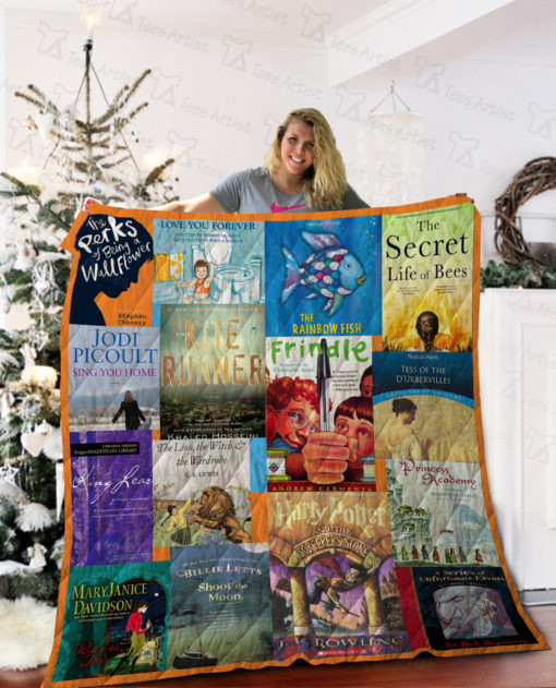 Books Tittle Quilt Blanket 02253