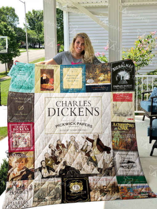 Charles Dickens Quilt Blanket 01632