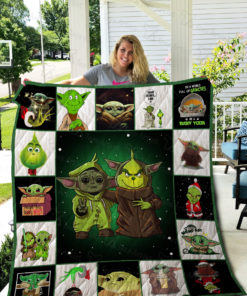Grinch And Yoda Quilt Blanket 02310