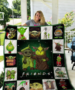Grinch And Yoda Quilt Blanket 02311