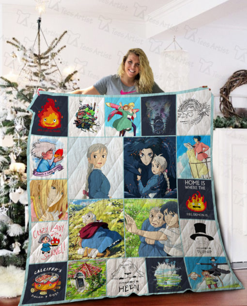 Howl's Moving Castle Quilt Blanket 02287