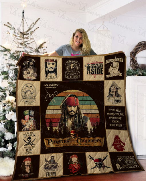 Pirates Of The Caribbean Quilt Blanket 02285