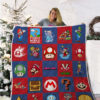 Christmas Movies Vintage Quilt Blanket 02276