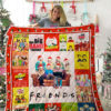 The Simpsons and Friends TV show Quilt Blanket 01994
