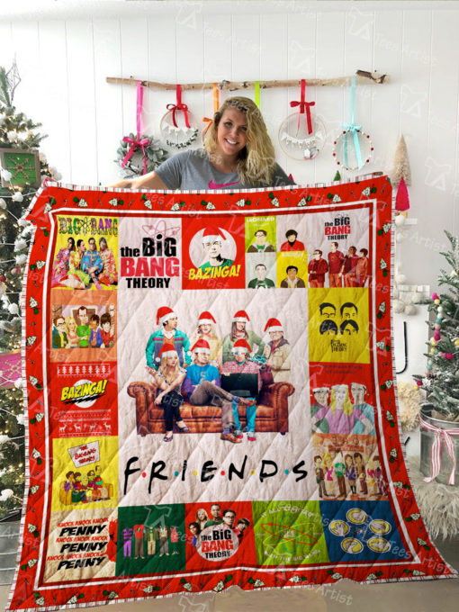 The Big Bang Theory and Friends TV show Quilt Blanket 01993