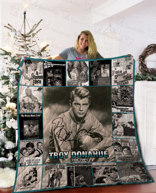 Troy Donahue Quilt Blanket 02245