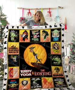 Yoda and Lion King Quilt Blanket 02314