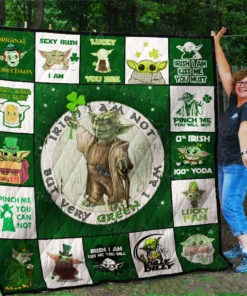 Yoda and Patricks Day Quilt Blanket 02315