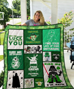 Patricks Day And Star Wars Quilt Blanket 02342