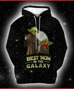 Baby Yoda Mother's day 3D Art Hoodie