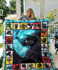 How to Train Your Dragon Quilt Blanket 02343