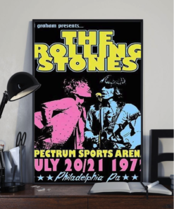 Rolling Stones 1972 Tour Poster