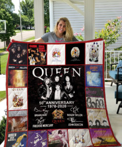 50 Years Of Queen 1970-2020 We Are The Champions Quilt Blanket