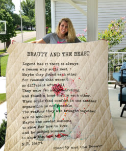 Beauty And The Beast Quilt Blanket
