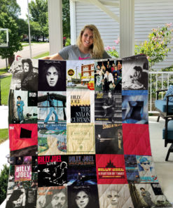 Billy Joel Style 2 Album Covers Quilt Blanket