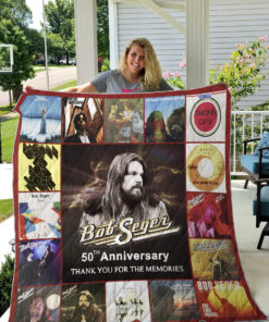 50 Year Of Bob Seger Thank You For The Memories Quilt Blanket