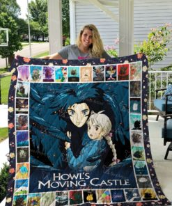 Howl's Moving Castle Quilt Blanket 02636
