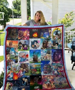Howl's Moving Castle Quilt Blanket 02527